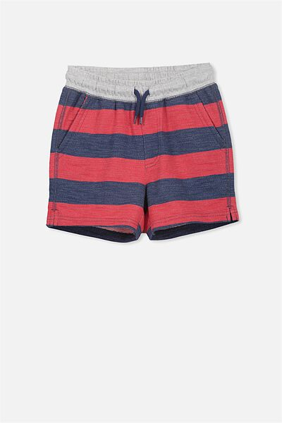 Henry Slouch Short, RIVER RED/CAPTAINS BLUE STRIPE