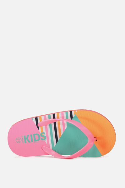 Printed Flip Flop, COLOUR BLOCK POP G