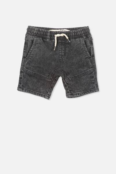 Abe Denim Short, BLACK WASH