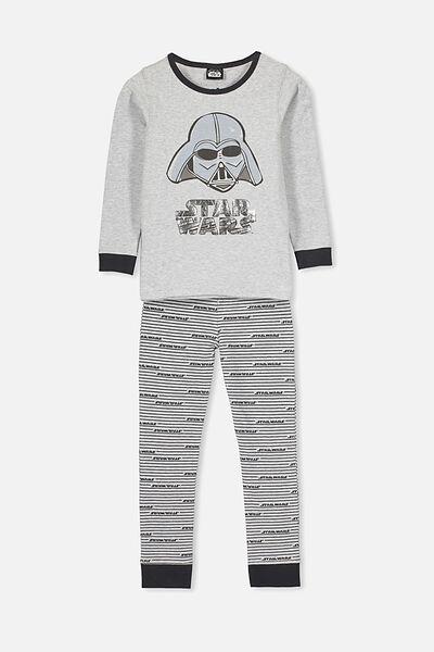 Harrison Long Sleeve Boys Pyjamas, LCN LU STAR WARS/DARTH VADER/GREY