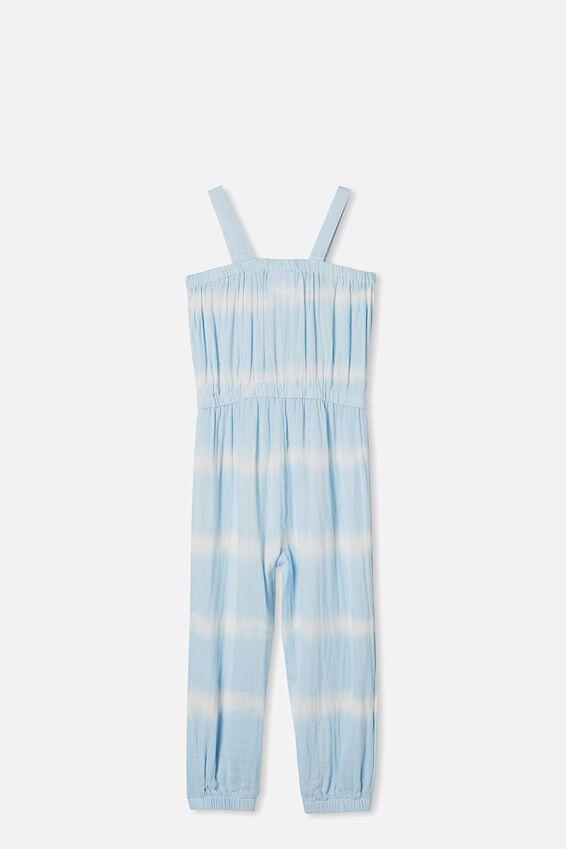 Tully Tie Front Jumpsuit, BLUE TIE DYE