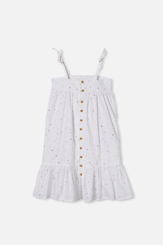 Elle Sleeveless Dress, WHITE/STARS