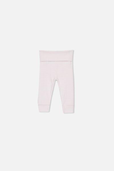 d52dd129f02d9b Newborn Essentials Legging, BABY PINK STRIPE