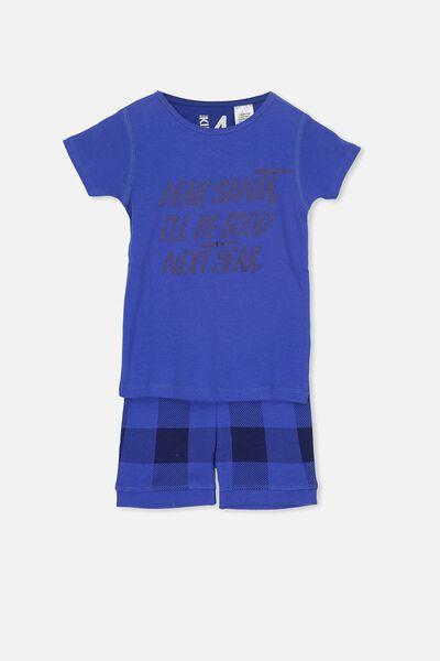 Joshua Short Sleeve Pyjama Set, XMAS DEAR SANTA