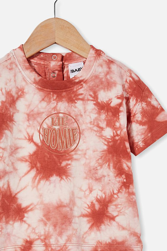 Parker Drop Shoulder Short Sleeve Tee, CHUTNEY TIE DYE/LIL  HOMIE