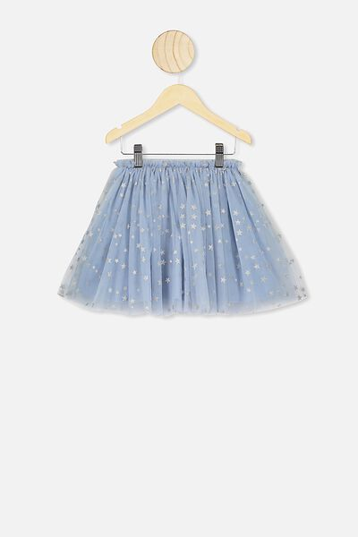 Trixiebelle Tulle Skirt, DUSTY BLUE/STARS