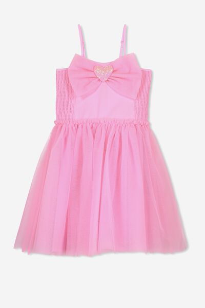 Iris Tulle Dress, FAIRYFLOSS PINK/BOW