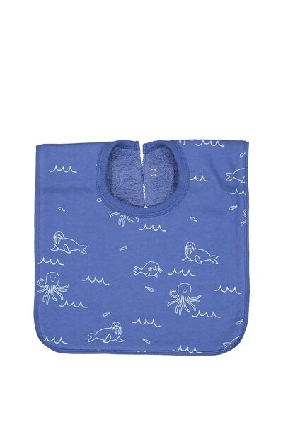 Hansel And Gretel Babies Bib, WATERBLUE/SEA CREATURES