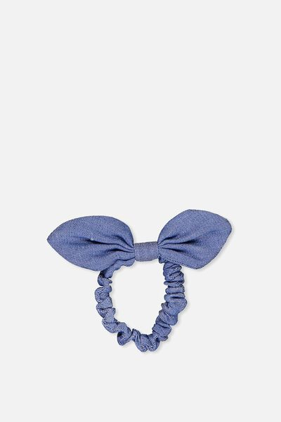 Bow Scrunchie, CHAMBRAY/BOW