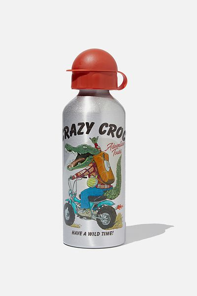Aluminium Drink Bottle, CRAZY CROC