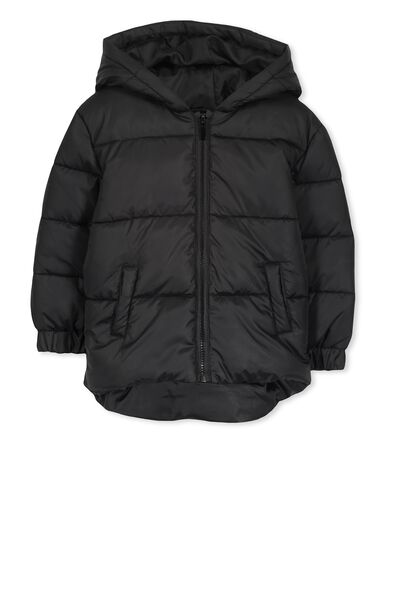 Polly Puffer Jacket, BLACK