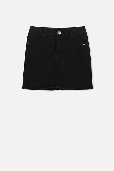 Francie Denim Skirt, WASHED BLACK