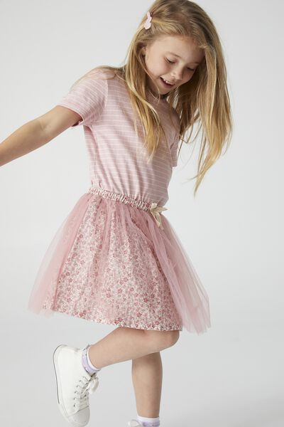 Sadie Dress Up Skirt, MUSK ROSE/TORQUAY DITSY
