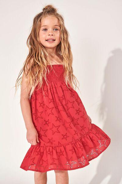Lily Mae Sleeveless Dress, LUCKY RED/STARS