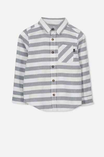 Noah Long Sleeve Shirt, BLUE OXFORD STRIPE