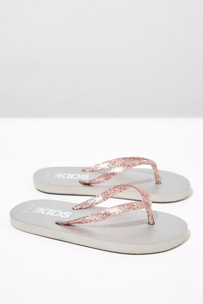 Printed Flip Flop, ROSE GOLD