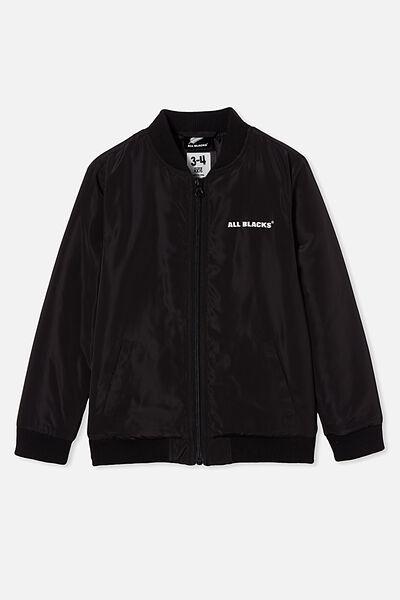 Co - Lab Lcn Bomber Jacket, LCN ALL BLACK/ALL BLACKS