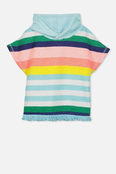 White Haven Swim Towel, BLUE TINT/RAINBOW STRIPE