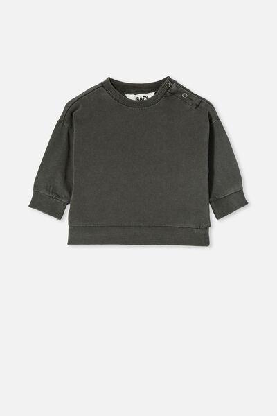 Enzo Drop Shoulder Top, BLACK WASH