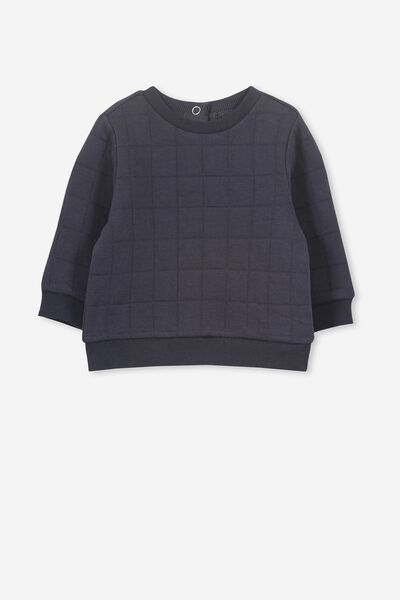 Scout Quilted Sweater, INDIAN INK