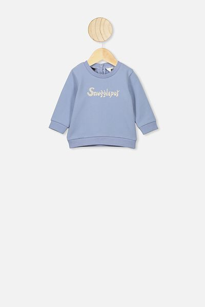 Bobbi Sweater, LCN MAY DUSTY BLUE/SNUGGLEPOT