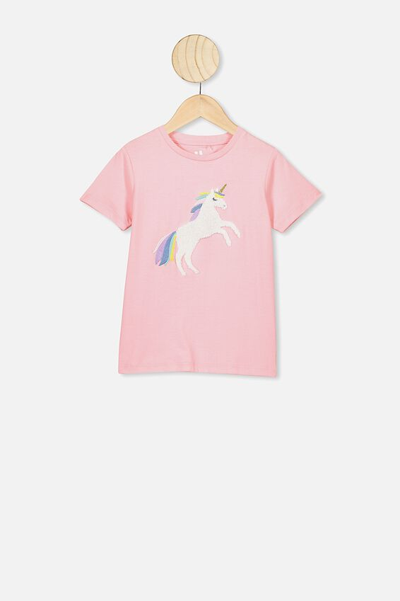 Stevie Ss Embellished Tee, MARSHMALLOW/UNICORN