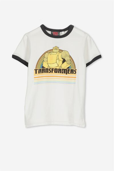 Short Sleeve License Tee, VANILLA RINGER/TRANSFORMERS