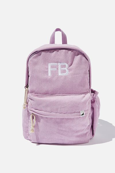 Personalised Back To School Cord Backpack, PALE VIOLET