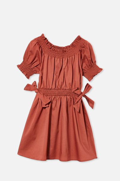 Samira Short Sleeve Dress, CHUTNEY