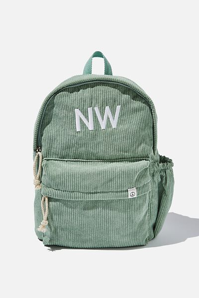 Personalised Back To School Cord Backpack, SMASHED AVO