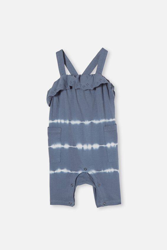 Halle Playsuit, STEEL LINEAR TIE DYE