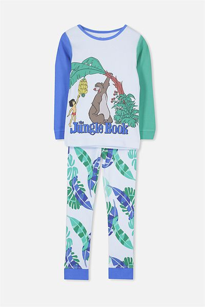 Harry Long Sleeve Boys PJ Set, LCN JUNGLE BOOK BALOO