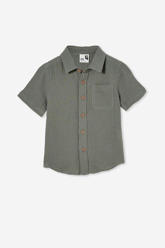 Resort Short Sleeve Shirt, SWAG GREEN/CHEESECLOTH