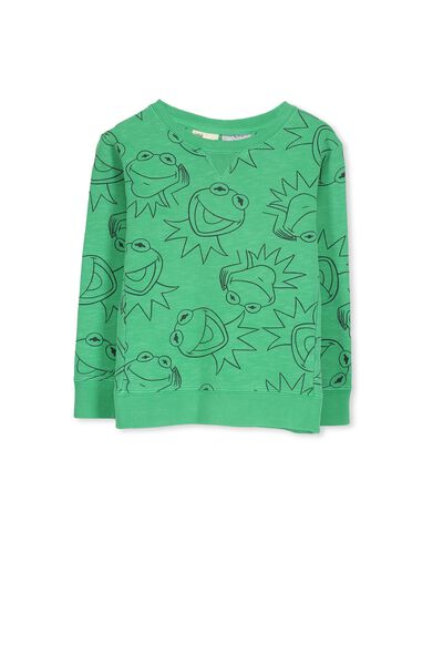 License Sweater, SIMPLY GREEN/KERMIT YDG