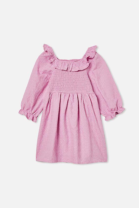 Lilliana Long Sleeve Dress, PURPLE PARADISE