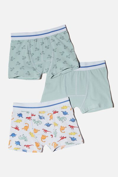 Boys 3 Pack Trunk, DINOS