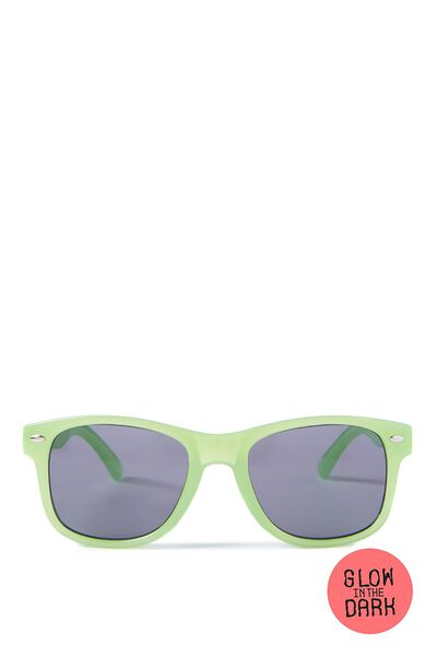 Kids Sunglasses, GLOW IN THE DARK GREEN