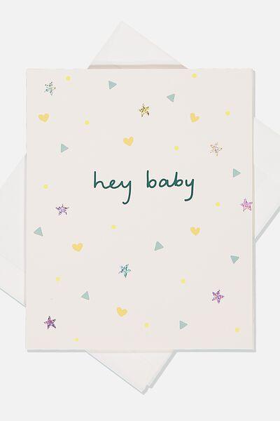 Baby Gift Card, HEY BABY