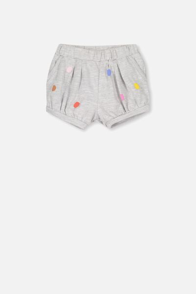Charlotte Short, LIGHT GREY MARLE/SPOTS
