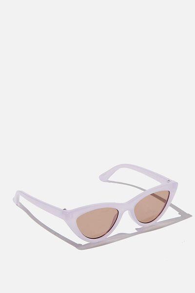 Kids Retro Sunglasses, MILKY LILAC CAT