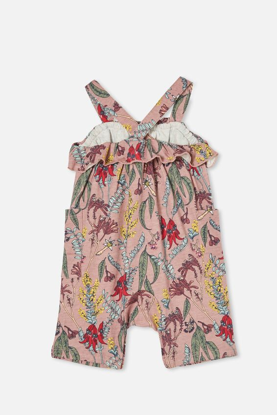 Halle Playsuit, DUSTY BERRY/SHARON FLORAL