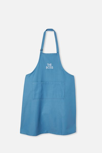 Personalised Adults Apron, PETTY BLUE