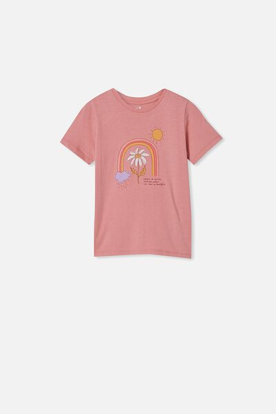 Penelope Short Sleeve Tee, EARTH CLAY/FUTURE IS BEAUTIFUL