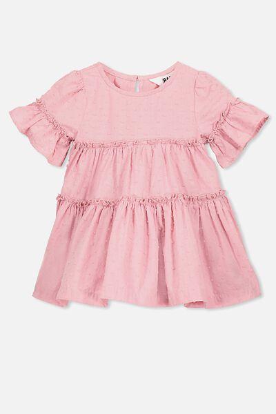 Abby Flutter Dress, SWEET BLUSH