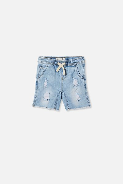 Street Slouch Short, UTAH LT BLUE WASH
