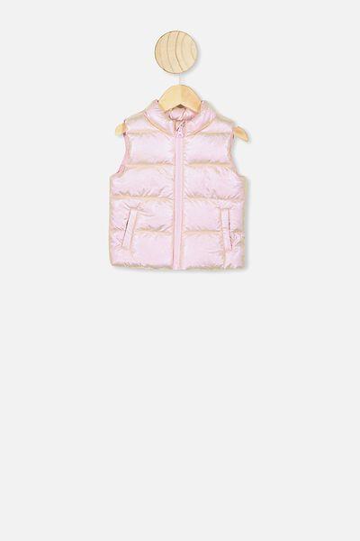 Morgan Puffer Vest, PINK METALLIC