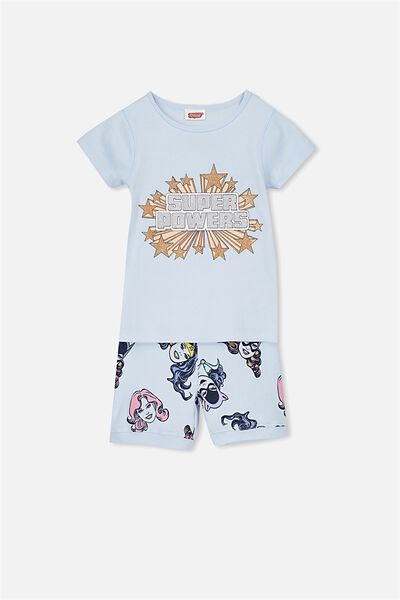 Chloe Girls Short Sleeve PJ Set, LCN SUPER POWERS