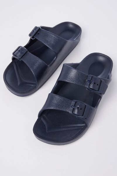 Twin Strap Slide, NAVY BLUE