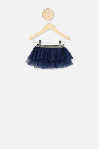 Florence Tulle Skirt, INDIGO