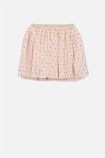Trixiebelle Tulle Skirt, DUSTY PINK/GOLD SPOT